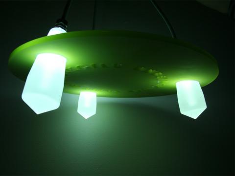 Lysarmatur med optiske lysfibre som lyskilde Industrielt Design