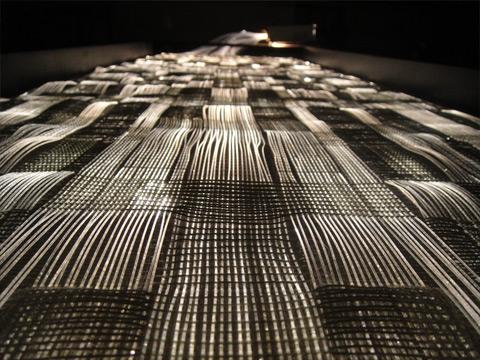 Optiske fibre vævede som tekstil Helle Trolle Industrielt Design