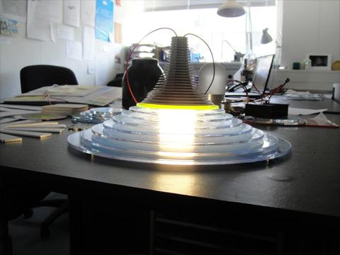Lysarmatur prototype Kent Laursen Industrielt Design