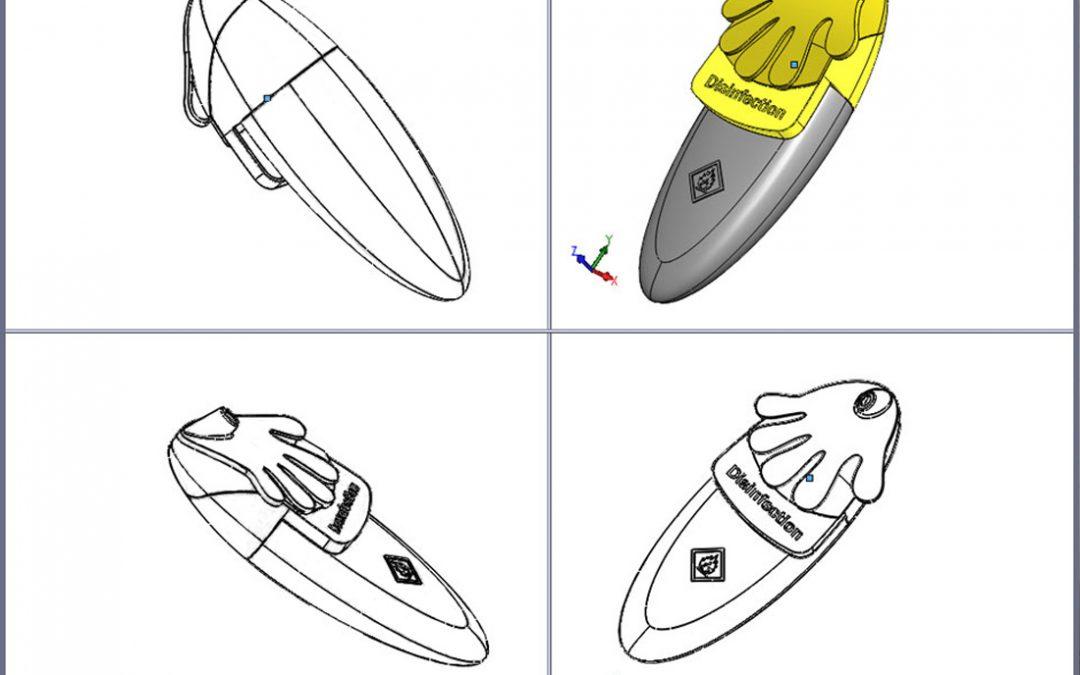 Se hvordan 3D Solid Works er brugt til sprøjtestøbte plast produkter, her.