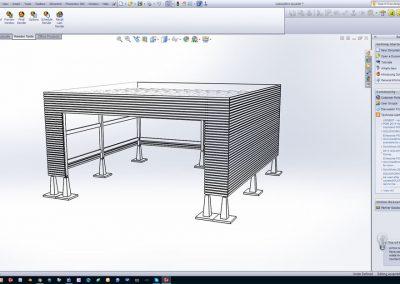 Se et eksempel på bygnings konstruktion og illustrationer til ansøgning om byggetilladelse