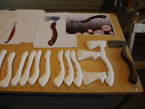 Se processen fra mine kurser i Formgivning af Produkter på Designskolen i Kolding