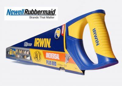 IRWIN facelift til en 80 årig. Design og 3d konstruktion af 2K plastemner for Newel Rubbermaid