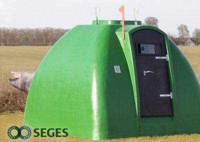 Nytænkning, design og konstruktion af farehytter til frilandssvin i samarbejde med Seges