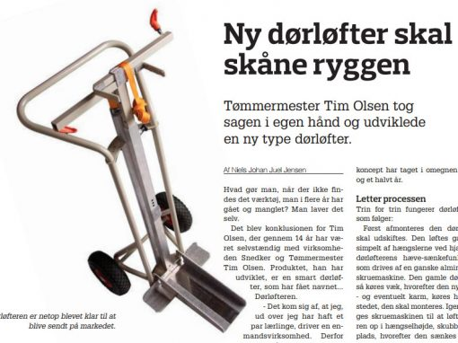 Redesign og rekonstruktion af special løftevogn for Tim Tools