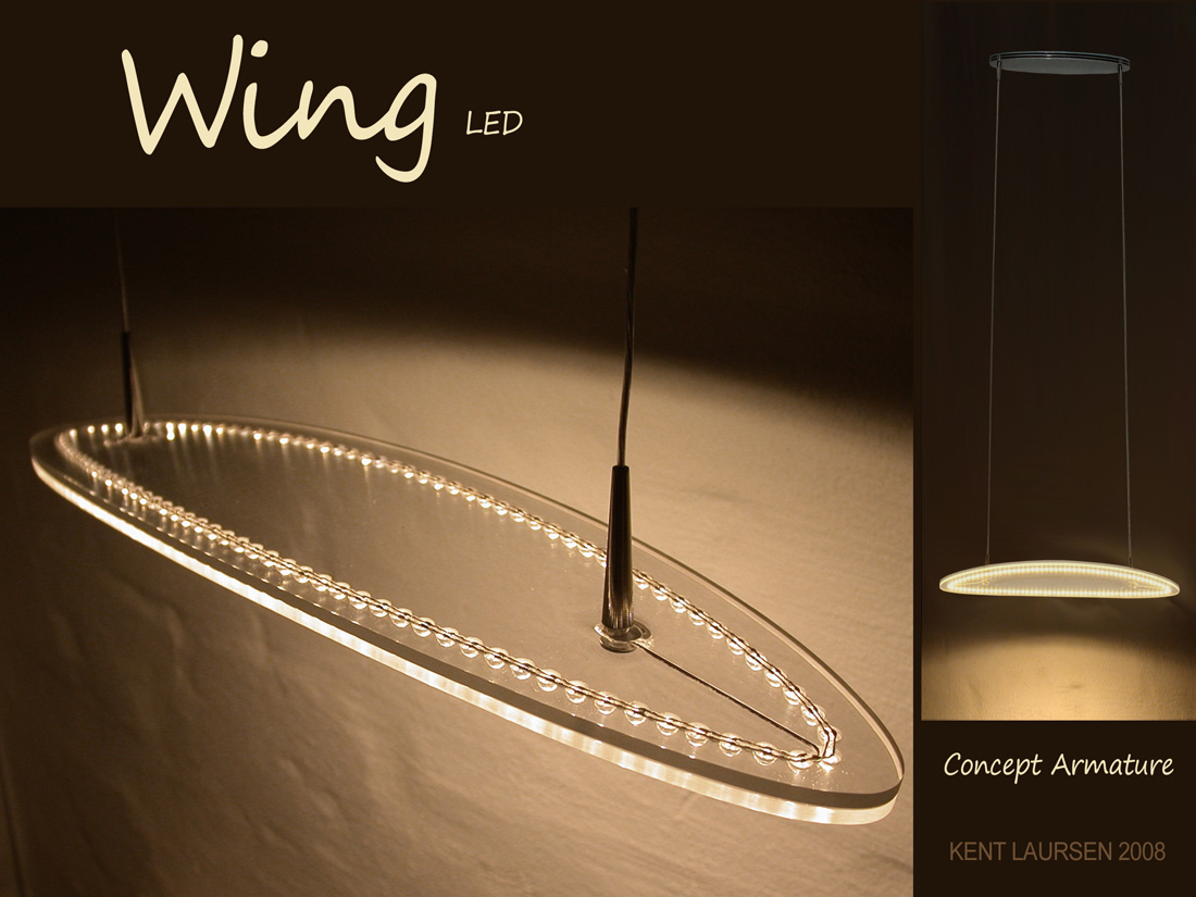 Wing Lysarmatur-LED-www.kentlaursen Industrielt Design