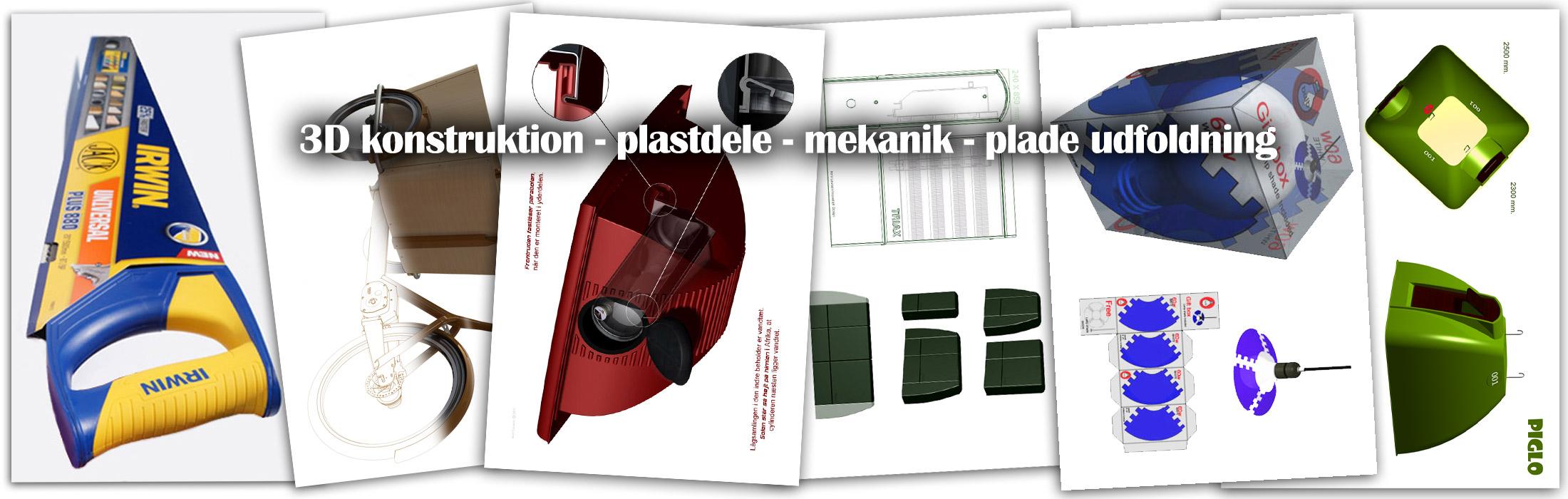 3d-konstruktion af plastdele, mekanik og pladeudfoldning produktudvikling Kent Laursen