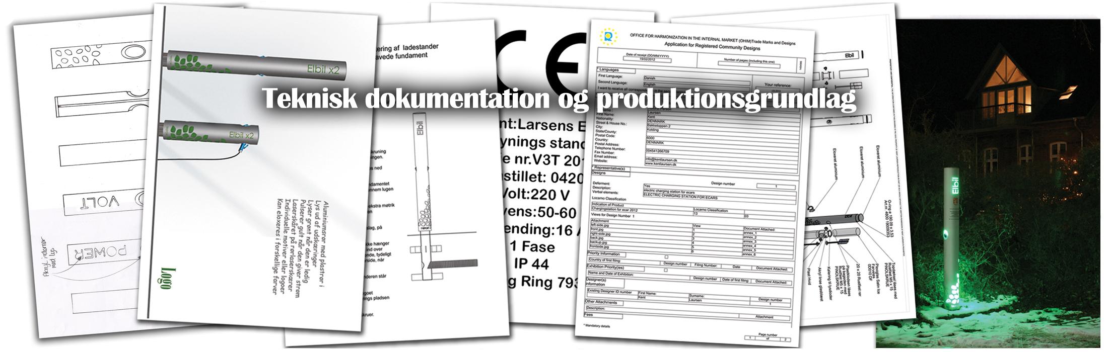 Teknisk dokumentation og produkltionsgrundlag fra Kent Laursen Industrielt Design