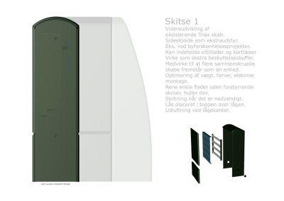 Eksempel på koncept forslag, til produkt i bukket metalplade.