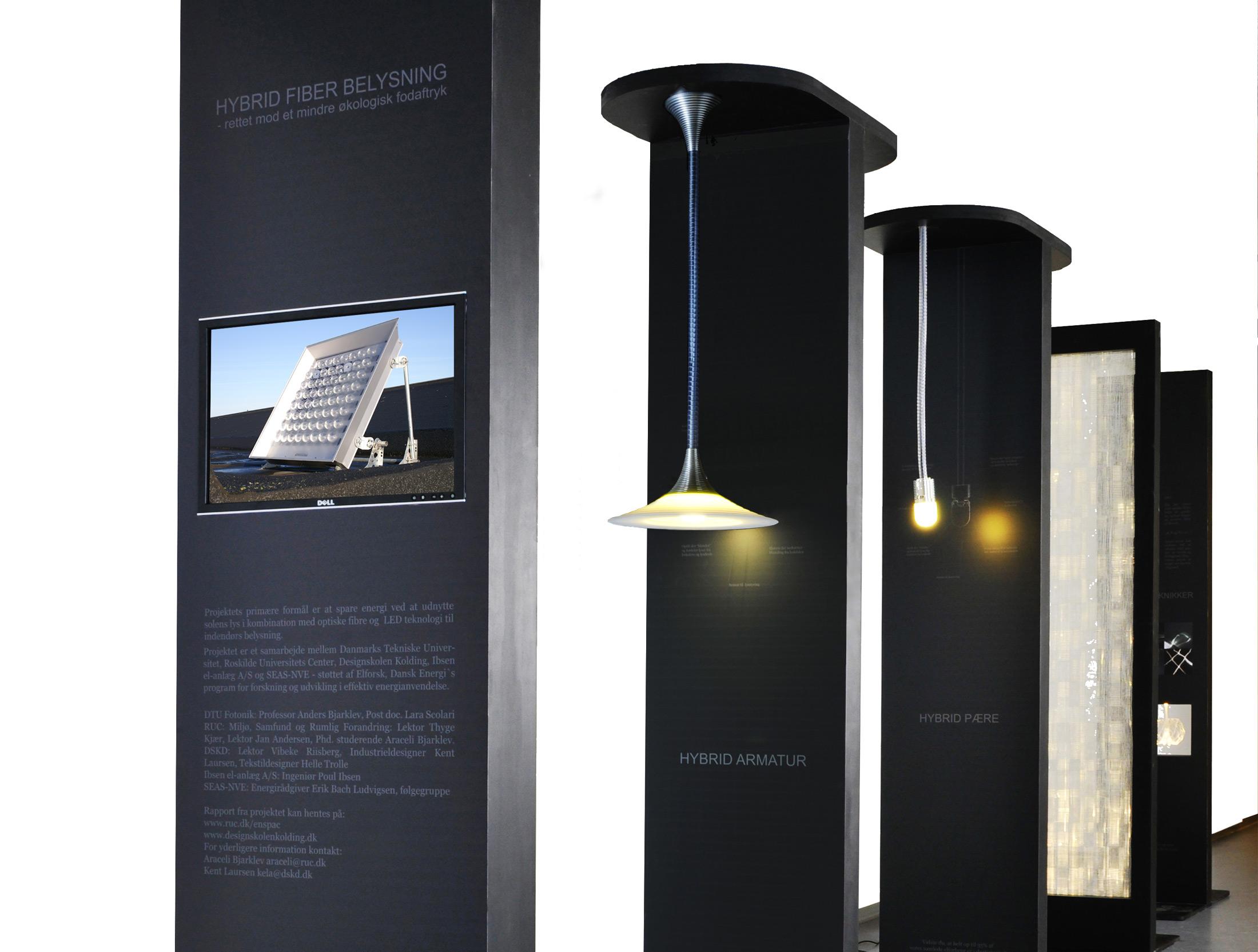 Udviklingsprojekt industrielt design Produktudvikling fiberoptisk belysning