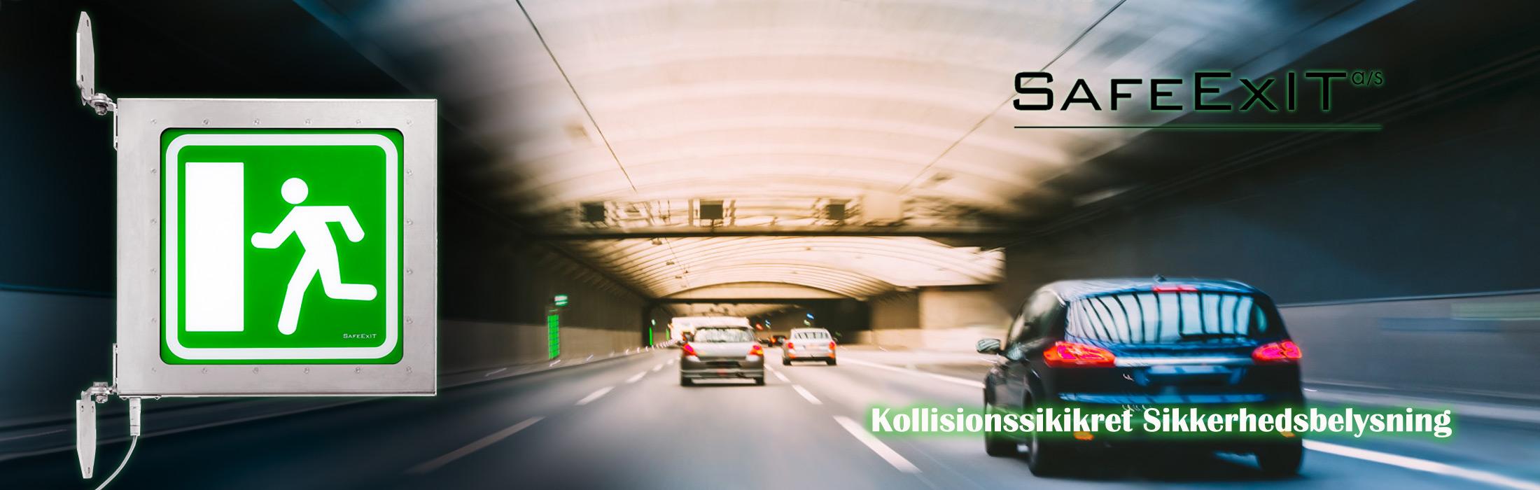 Sikkerhedsbelysning til vejtuneller LED lysarmatur industrielt design og produktudvikling