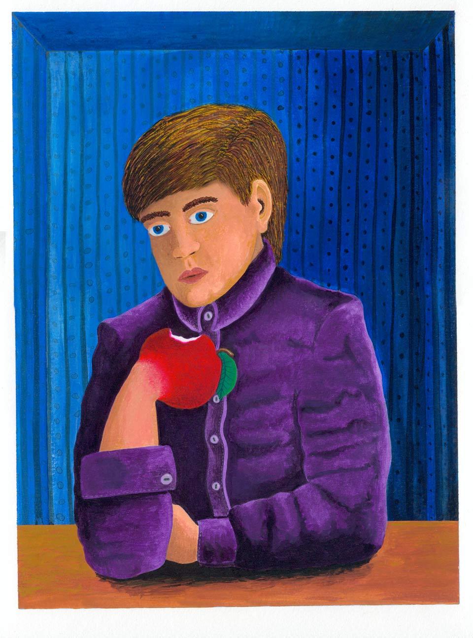 Illustration Kent Laursen Diverse teknikker og farver -Gouashe metamorfose