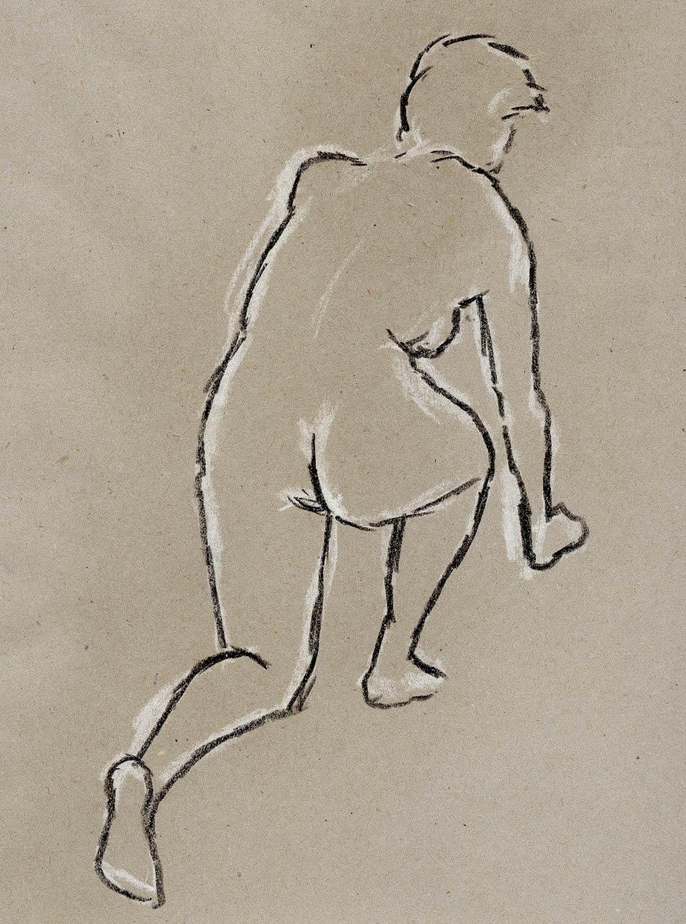 Illustration Croquis Kent Laursen eksperimenter og teknikker kridt