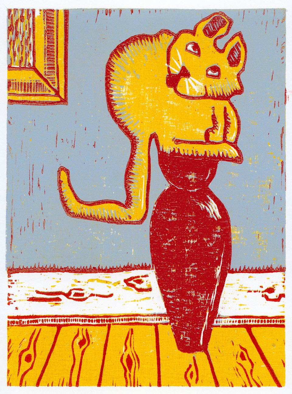 Illustration Linoleumstryk af Kent Laursen