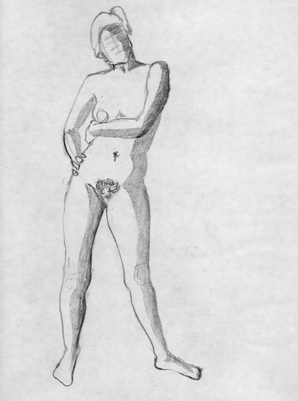 Illustration Croquis Kent Laursen eksperimenter og teknikker 88
