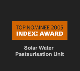 Index award 2005 Solar Pasteurisation unit topnominee Kent Laursen