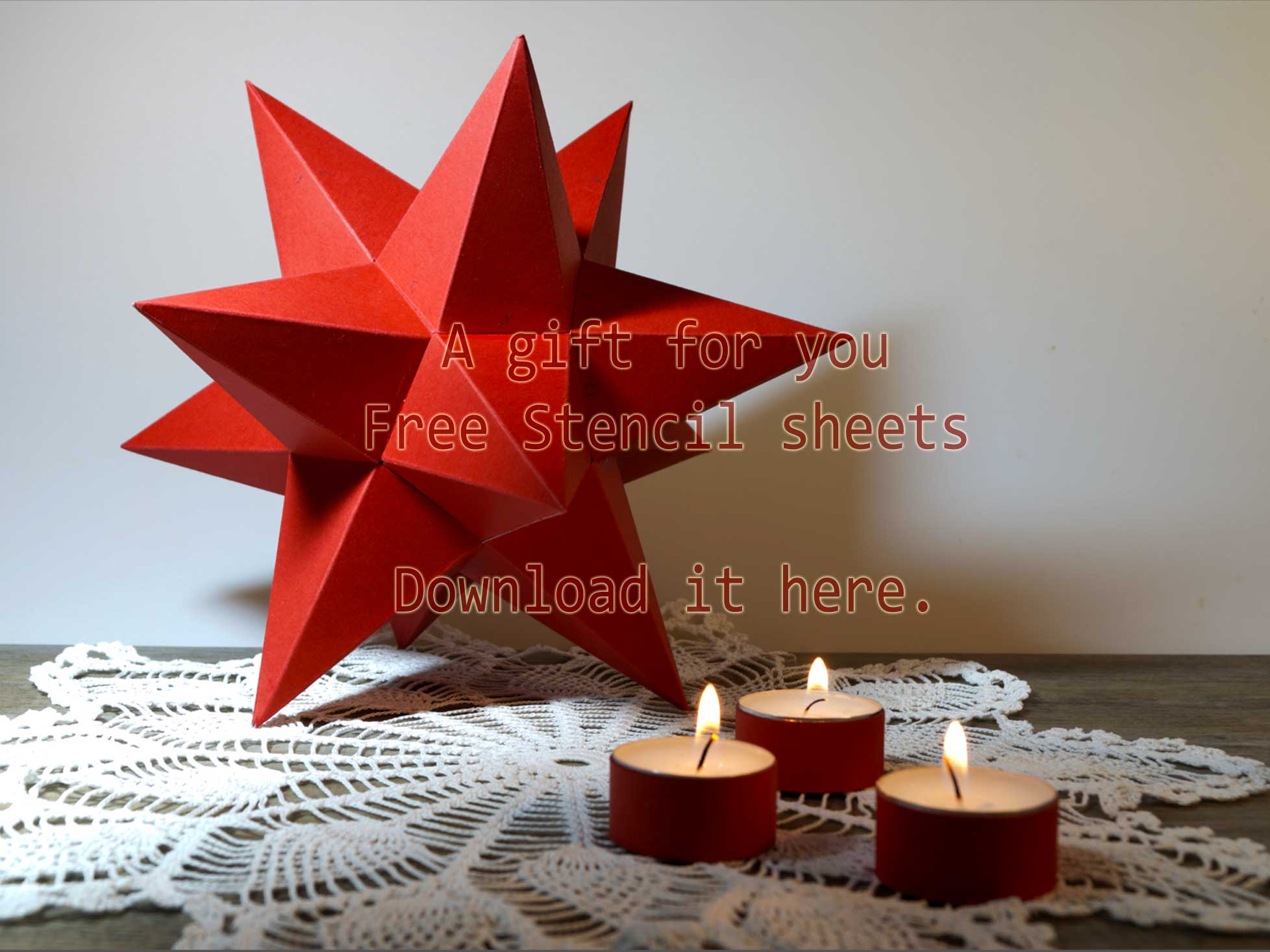 Free-gift-Stencil-Sheets -For a Dodecahedrone Star, Design Kent Laursen